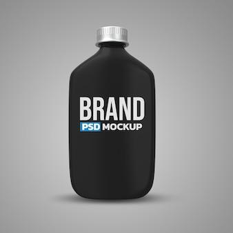 Conception de maquette de rendu 3d de bouteille