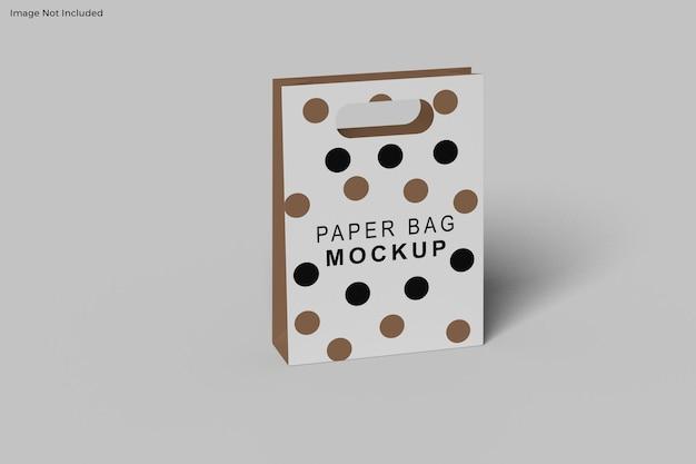 Conception de maquette de sac en papier isolé
