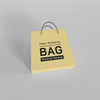 Conception de maquette de sac à provisions en papier psd premium