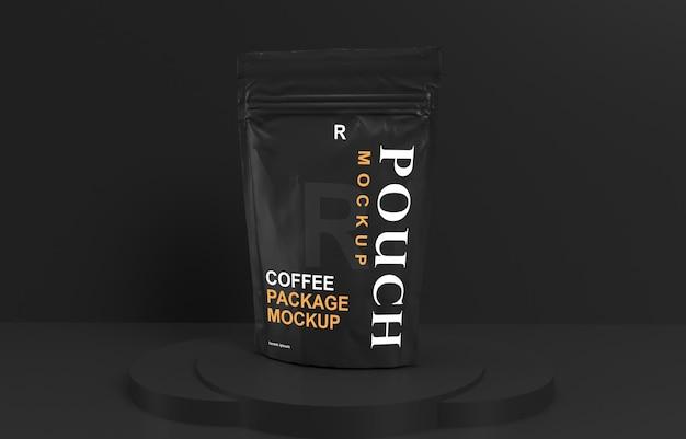 Conception de maquette de sachet d'emballage de café