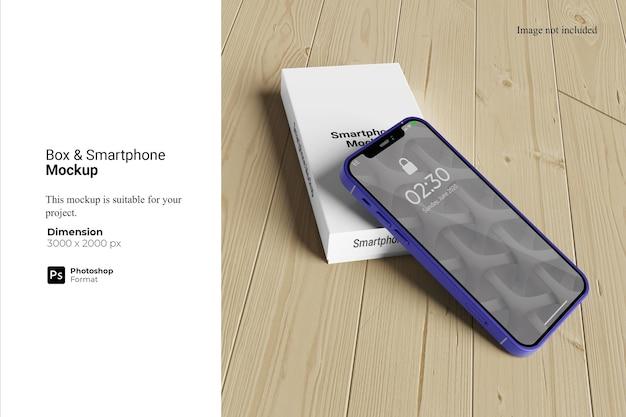 Conception de maquette de smartphone de boîte