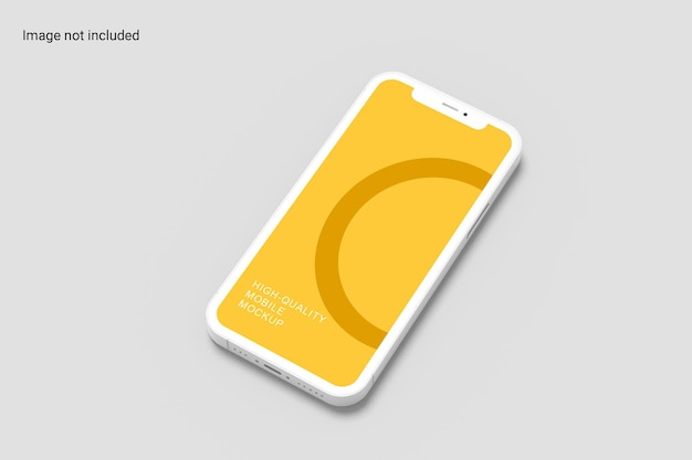Conception de maquette de smartphone minimaliste
