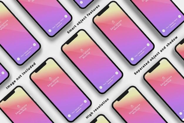Conception de maquette de smartphone multiple
