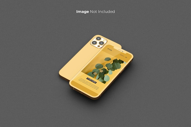 Conception de maquette de smartphone en or plein écran