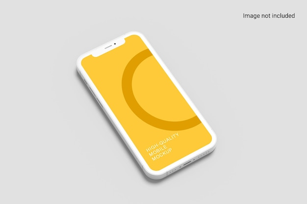 Conception de maquette de smartphone en perspective