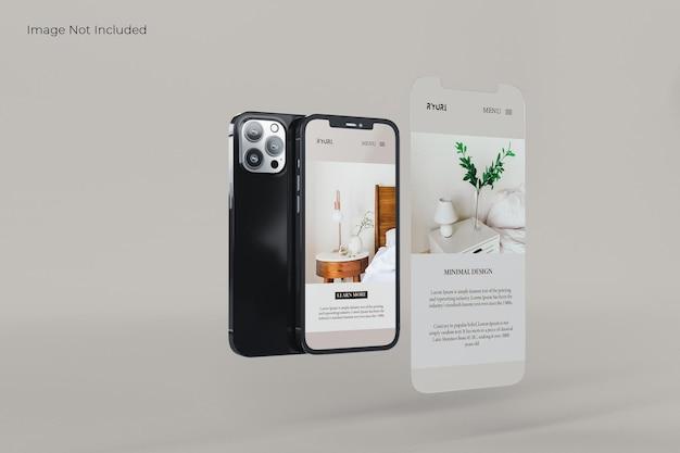 Conception de maquette de smartphone plein écran