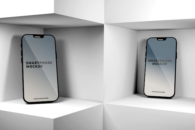 Conception de maquette de smartphone