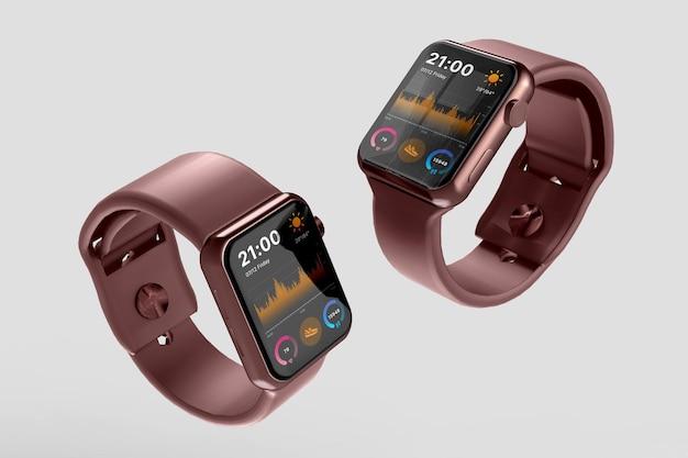 Conception de maquette de smartwatch isolée