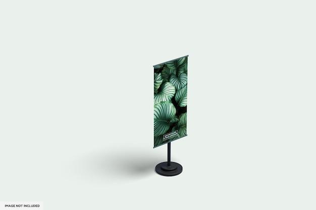 Conception de maquette de stand publicitaire feuille isolée