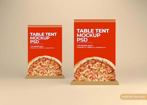 Conception de maquette de support de tente de table isolée