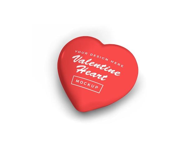 Conception de maquette de symbole de coeur saint-valentin isolée