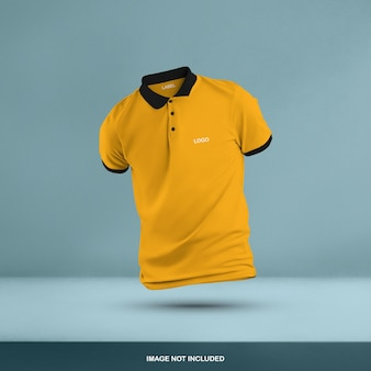 Conception de maquette de t-shirt polo 3d isolé