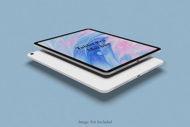 Conception de maquette de tablette flottante isolée