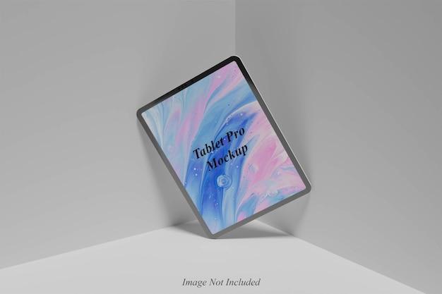 Conception de maquette de tablette pro isolée