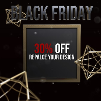 Conception de maquette de taille carrée black friday socail media
