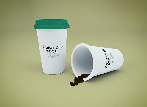 Conception de maquette de tasse à café isolée