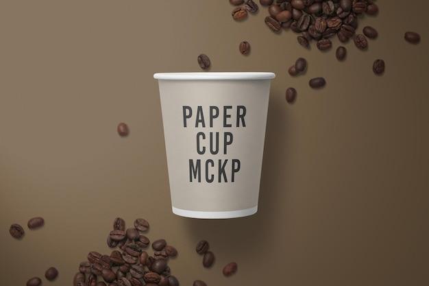 Conception de maquette de tasse à café en papier isolée