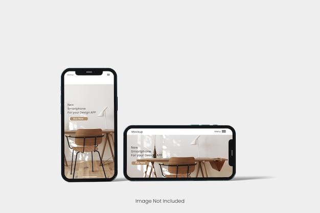 Conception de maquette de téléphone isolée