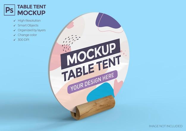 Conception de maquette de tente de table promotionnelle