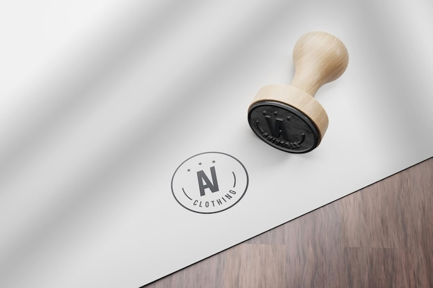 Conception de maquette de timbre de logo