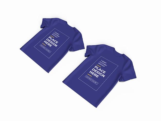 Conception de maquette de tissu tshirt isolé