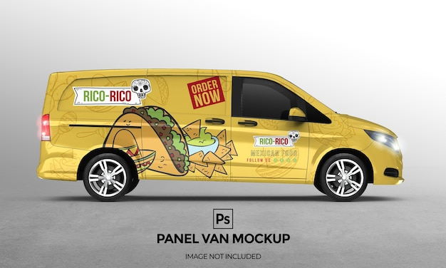 Conception de maquette de van à panneau 3d