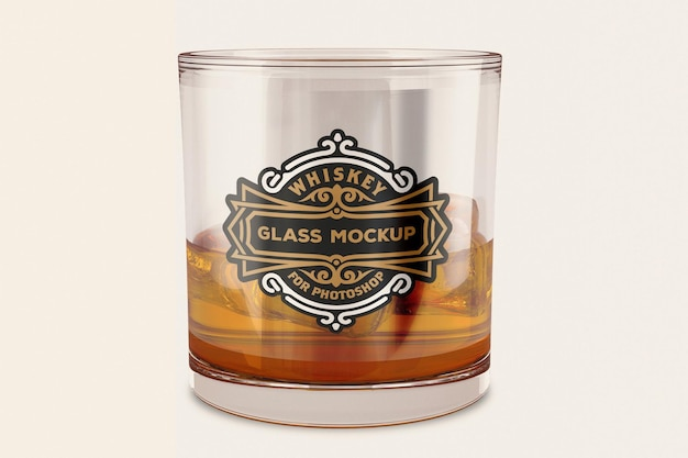 Conception de maquette de verre à whisky en rendu 3d