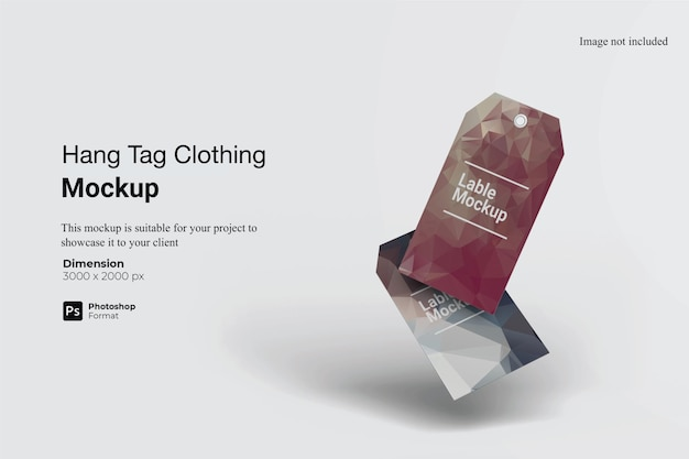 Conception de maquette de vêtements étiquette volante isolée
