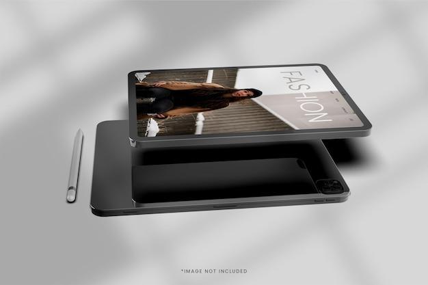 Conception de maquette de vue d'écran de tablette numérique