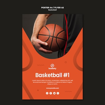 Conception de modèle d'affiche de basket-ball