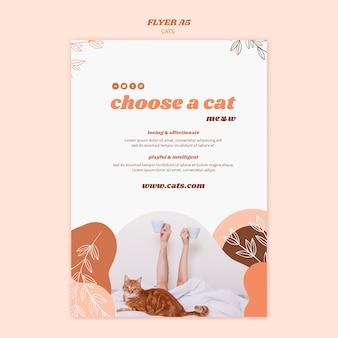 Conception de modèle d'affiche de chats