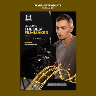 Conception de modèle d'affiche de cinéaste