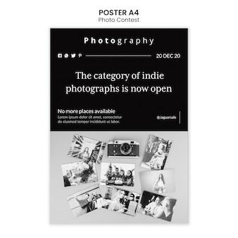 Conception de modèle d'affiche de concours photo