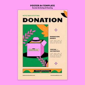 Conception de modèle d'affiche de don de bienfaisance