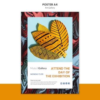 Conception de modèle d'affiche de galerie d'art