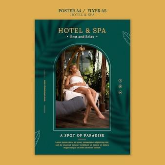 Conception de modèle d'affiche de location de vacances de luxe