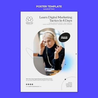 Conception de modèle d'affiche marketing