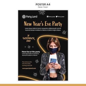 Conception de modèle d'affiche de nouvel an