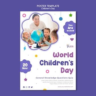 Conception de modèle d'affiche pour la fête des enfants