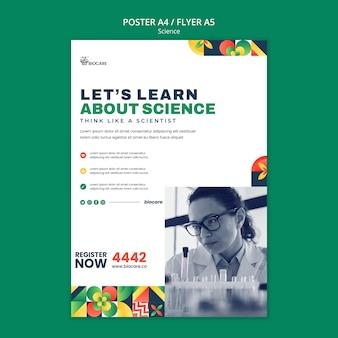 Conception de modèle d'affiche scientifique