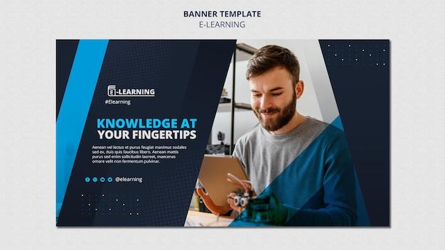 Conception de modèle de bannière d'apprentissage en ligne