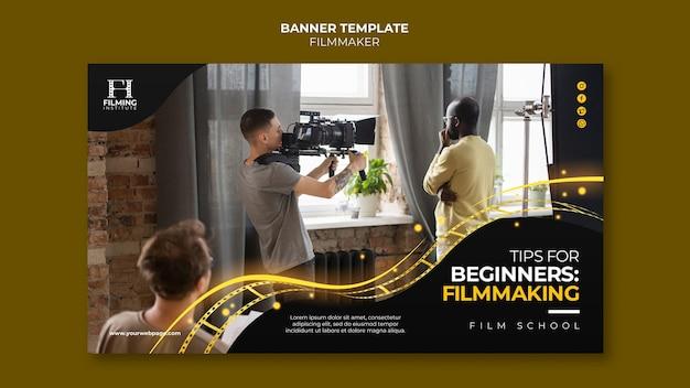 Conception de modèle de bannière de cinéaste
