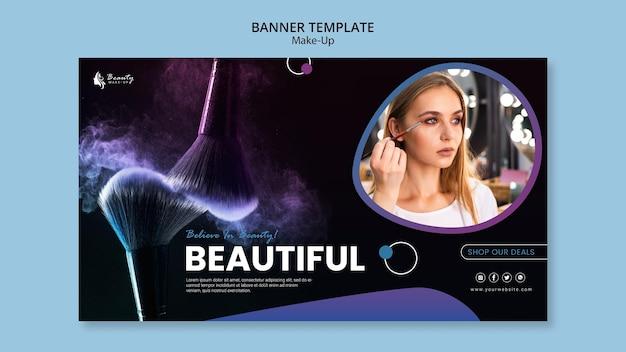 Conception de modèle de bannière de concept de maquillage