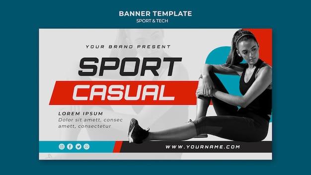 Conception de modèle de bannière de concept sport