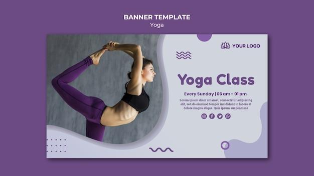 Conception de modèle de bannière de concept de yoga