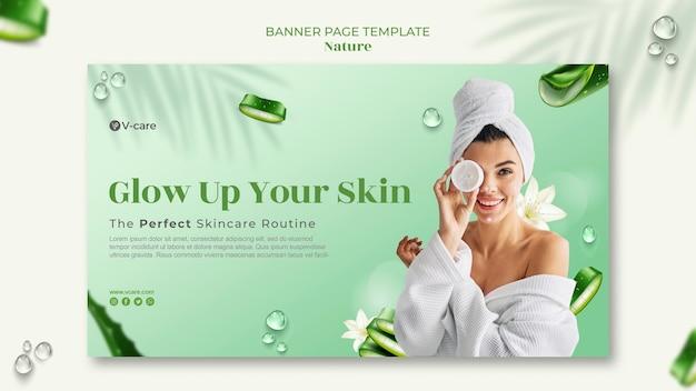 Conception de modèle de bannière de cosmétiques naturels à l'aloe vera