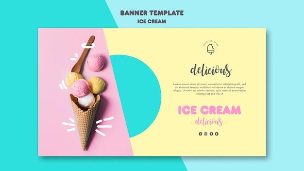 Conception de modèle de bannière de crème glacée