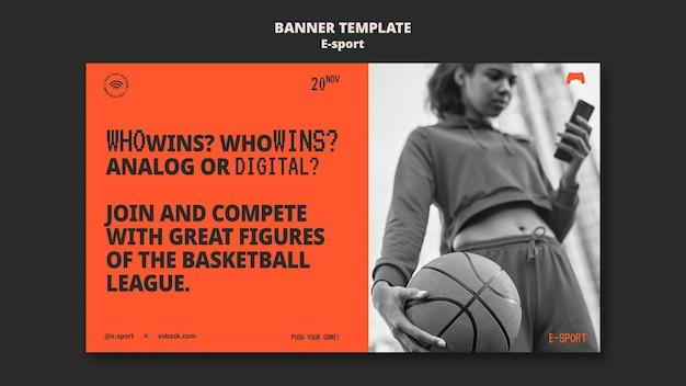 Conception de modèle de bannière esport