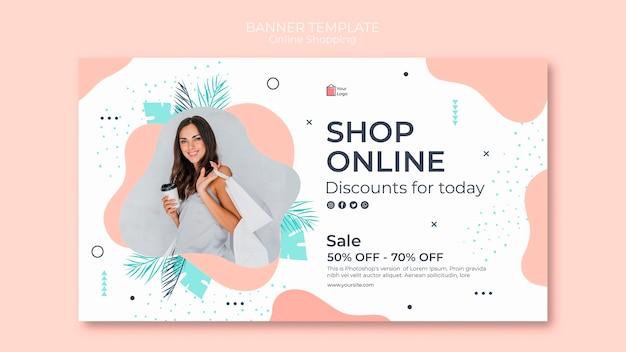 Conception de modèle de bannière de magasinage en ligne