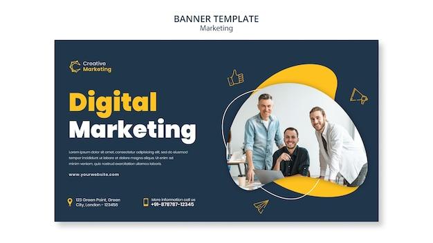 Conception de modèle de bannière avec marketing numérique